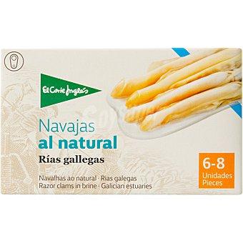 El Corte Inglés navajas al natural de las rías gallegas 6-8 piezas  lata 63 g neto escurrido