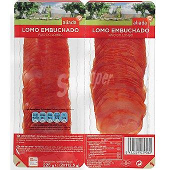 Aliada Lomo embuchado en lonchas envase 225 g Pack 2x112,5 g