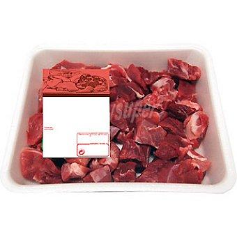 Carne magra (ragout) de cerdo troceada para guisar formato ahorro peso aproximado Bandeja 1 kg