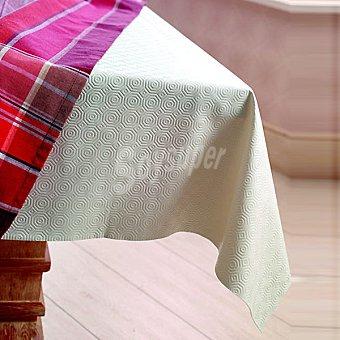 CASACTUAL  Protector de mesa cuadrado en color crudo 140 x 140 cm Muletón 2 1 Unidad