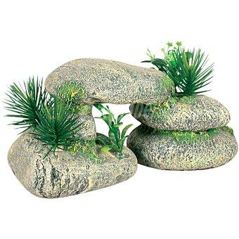 Zolux Piedra decorativa para acuarios con Plantas 1 unidad