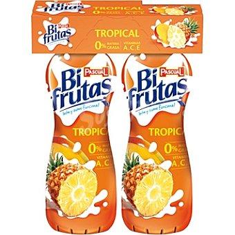 Pascual Zumo de frutas y leche Bifrutas Tropical con vitaminas a,c,e 0% materia grasa Pack 2 envase 275 ml