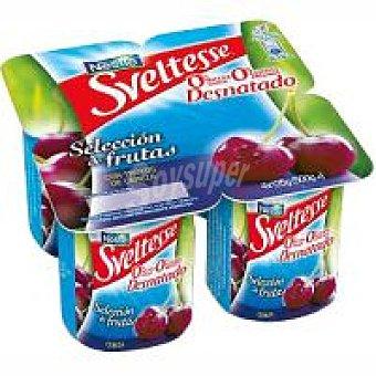 Sveltesse Nestlé Yogur 0% con cereza Pack 4x125 g