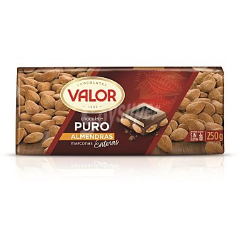 Valor Chocolate puro con almendras Tableta 250 g