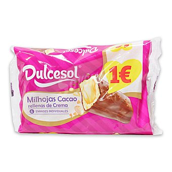 Dulcesol Milhojas de cacao dulcesol 4 ud