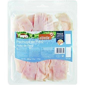 Aliada Pechuga de pavo en finas lonchas sin gluten envase 200 g (100 g+100 g) Envase 200 g