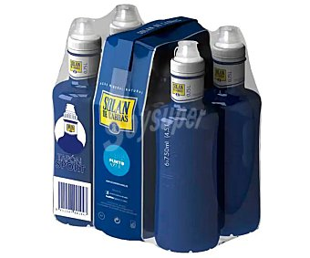 Solán de Cabras Agua mineral, tapón sport Botella de 75 centilitros pack de 6