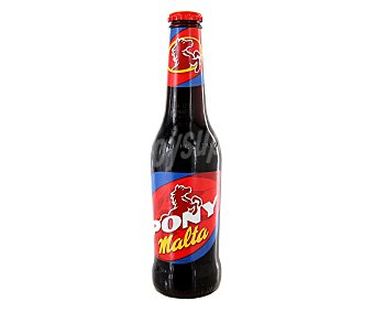 Pony Bebida de malta con gas sin alcohol botella 33 cl