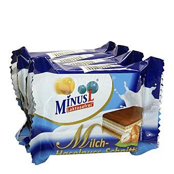 Minus l Mini barquillo con leche y crema de avellana sin lactosa 100 g