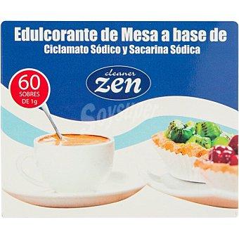 Huxol Cleaner Zen edulcorante de mesa a base de ciclamato y sacarina sódica 60 sobres de 1 g caja 60 g 60 sobres de 1 g