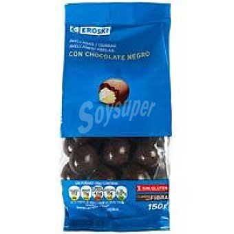 Eroski Avellanas con chocolate negro Bolsa 150 g
