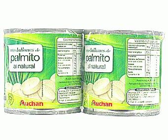 Auchan Medallones de Palmito Al Natural 2x105g