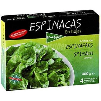 El Corte Inglés Espinacas en hojas Estuche 400 g