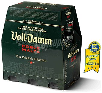 Voll-damm Cerveza extra 6 botellines de 25 cl