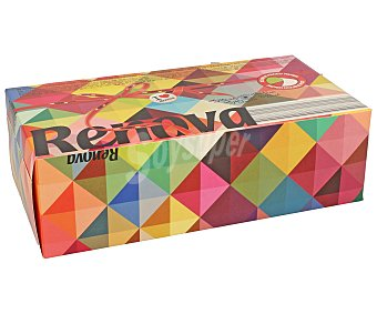 Renova Caja de pañuelos faciales de diferentes colores 80 unidades
