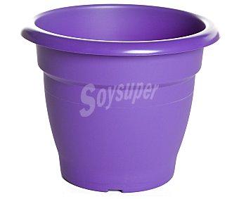 VAN Maceta de plástico tipo campana, de color violeta y medidas de 23 x 21 centímetros VAN