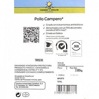 Calidad y Origen Carrefour Traseros de Pollo Campero Precortados 450 g aprox Bandeja de 450.0 g. aprox