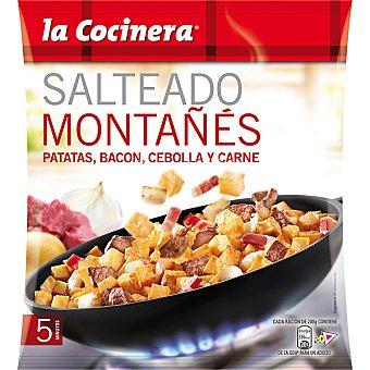 La Cocinera Salteado Montañés patatas bacon cebolla y carne Bolsa 400 g