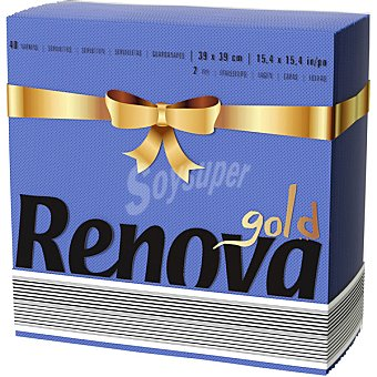 Renova Servilletas Art de la Table Gold azul 2 capas Paquete 40 unidades