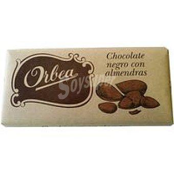 Orbea Chocolate negro con almendras Tableta 125 g
