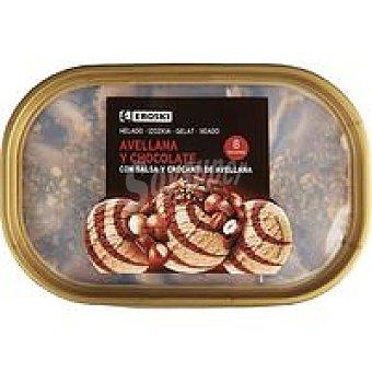 Eroski Helado de choco-avellana Tarrina 500 g