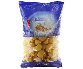 Auchan Galets, pasta de sémola de trigo duro de calidad superior Paquete de 500 gramos