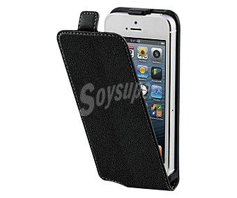 MUVIT Funda con tapa y protector de pantalla para iphone 5 slim negra (teléfono no incluido),