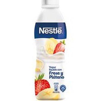 Nestlé Yogur líquido de fresa-plátano Botella 750 ml