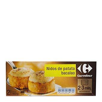 Carrefour Nidos de patata bacalao 160 g