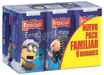 Pascual Leche de vaca entera procedente de animales con bienestar garantizado 6 x 200 ml