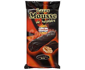 Codan Lazos mousse de hojaldre bañados en chocolate 145 g
