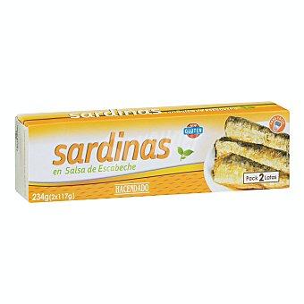 Hacendado Sardina en salsa escabeche Lata pack 2 - 234 g escurrido 164 g