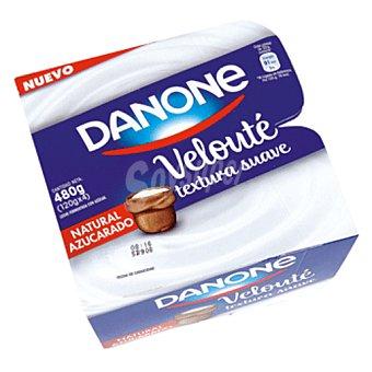 Velouté Danone yogur natural azucarado  pack 4 unidades 125 g