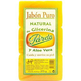 Pardo Pastilla de jabón natural de glicerina Pack 3 pastilla 125 g