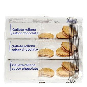 Carrefour Galletas rellenas de chocolate Pack 3x250 g