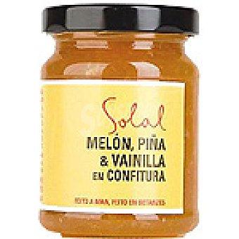 SOLAL Confitura de melón con piña y vainilla Frasco 170 g