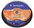 Spindle 10 dvd-r 4,7GB 16x verbatim 10 VERBATIM 10 DVD-R