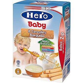 HERO BABY papilla 8 cereales sabor barquillo  paquete 500 g
