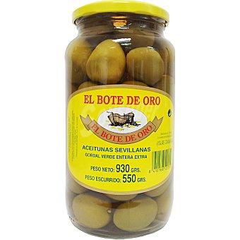 El Bote de Oro Aceitunas gordal verdes enteras extra Frasco 550 g neto escurrido
