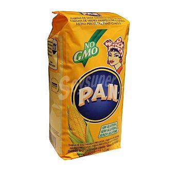 P.A.N Harina 100% de maíz amarillo para arepas Paquete 1 kg
