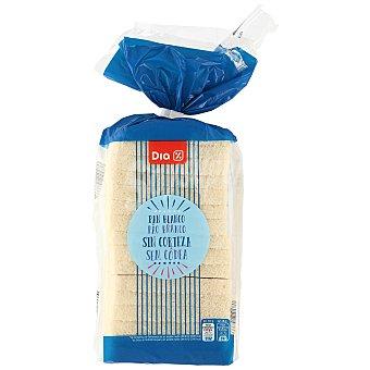 DIA Pan de molde blanco sin corteza Bolsa 450 gr
