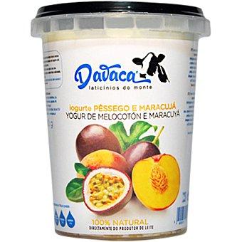 DAVACA Yogur con melocotón y maracuyá Envase 500 g