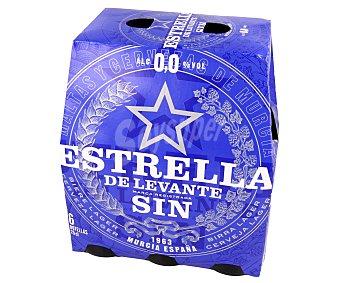 Estrella Levante Cerveza sin alcohol 0,0% Pack 6 botellines x 25 cl