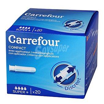 Carrefour Tampón compact super + con aplicador 20 ud