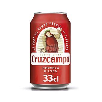 Cruzcampo Cerveza rubia nacional Lata 33 cl