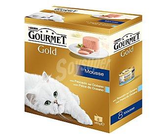 GOURMET G de FRISKIES Comida Húmeda para gato.surtido Mousse Pescado Océano friskies 8 unidades de 85 gramos 8x 85g