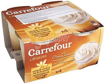 Carrefour Copa de vainilla con caramelo Pack 4x100 g