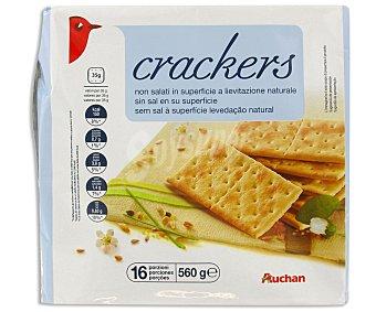 Auchan Crackers Sin Sal 560 Gramos