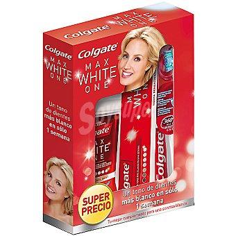 Colgate Max White Compuesto por pasta dentífrica + cepillo de...