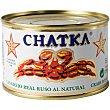 Cangrejo real ruso al natural 60% patas  lata 185 g Chatka